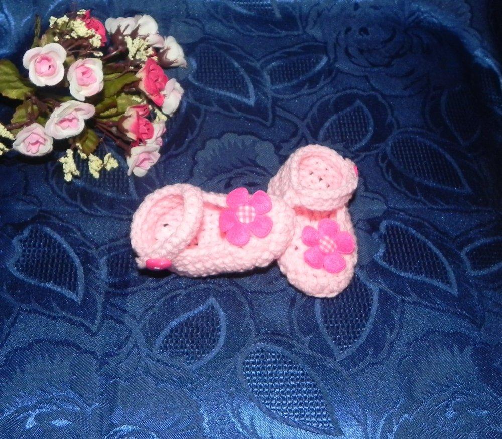 scarpette bimba uncinetto 1-4 mesi