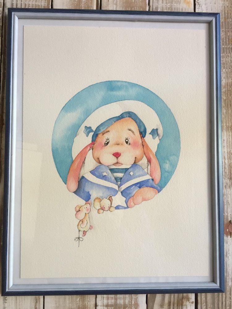 quadretto illustrazione nursery decor
