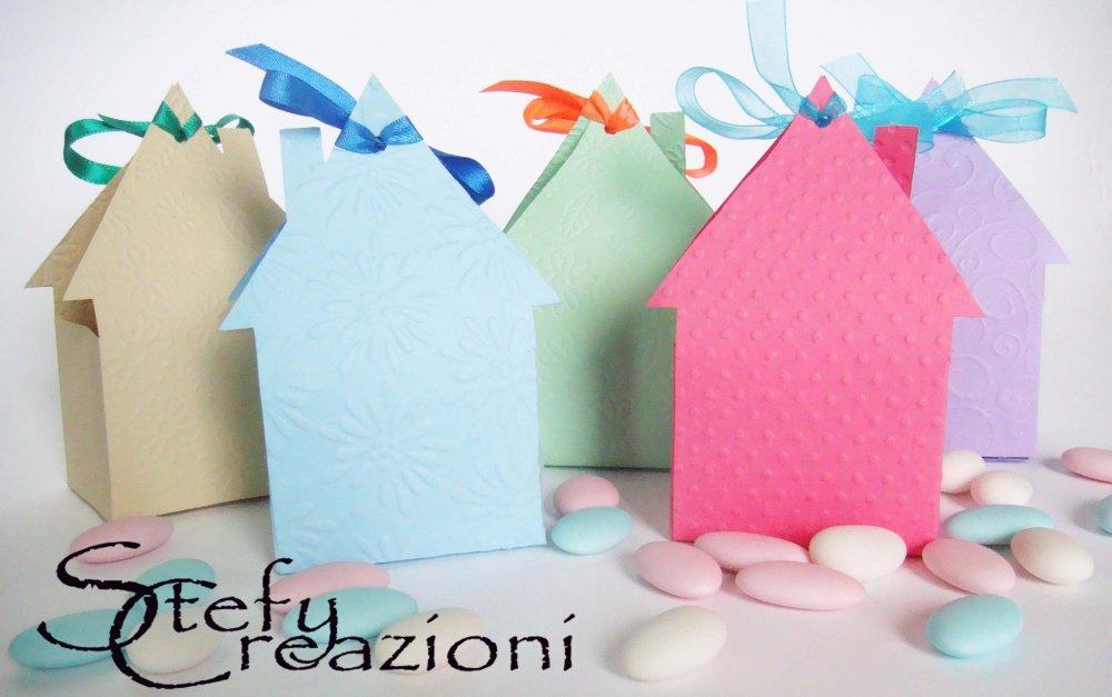 Scatoline Casetta  Grandi (Lotto 5 pezzi)