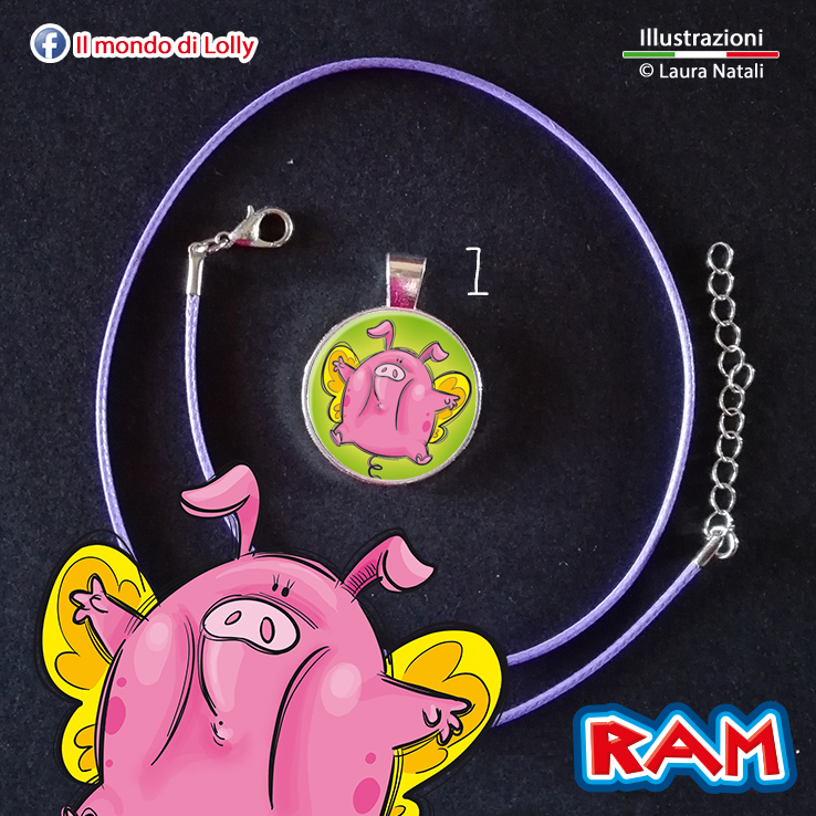 RAM Bijoux - ciondolo cameo argento placcato