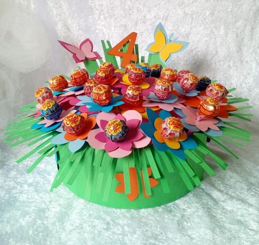 Torta di fiori di chupa chups