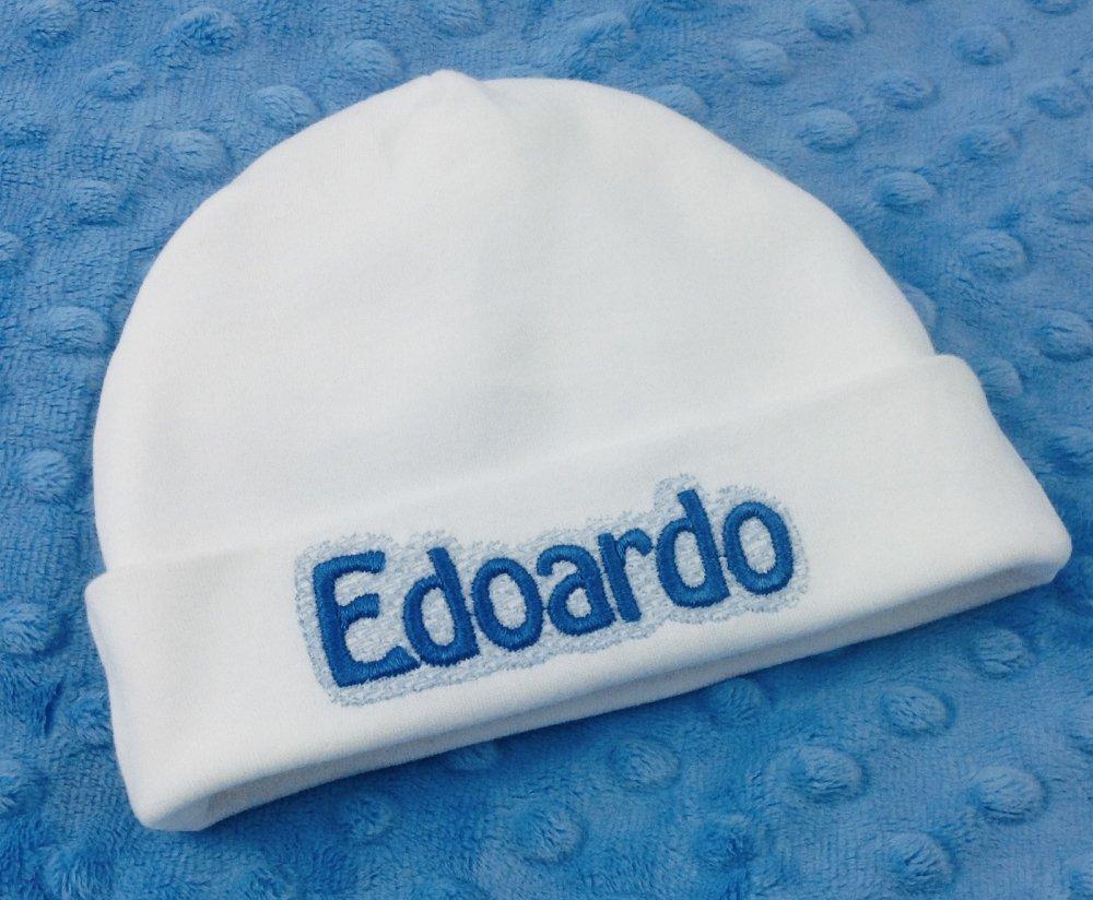 Cappello Berretto ricamato personalizzato con nome - Bimbo Neonato