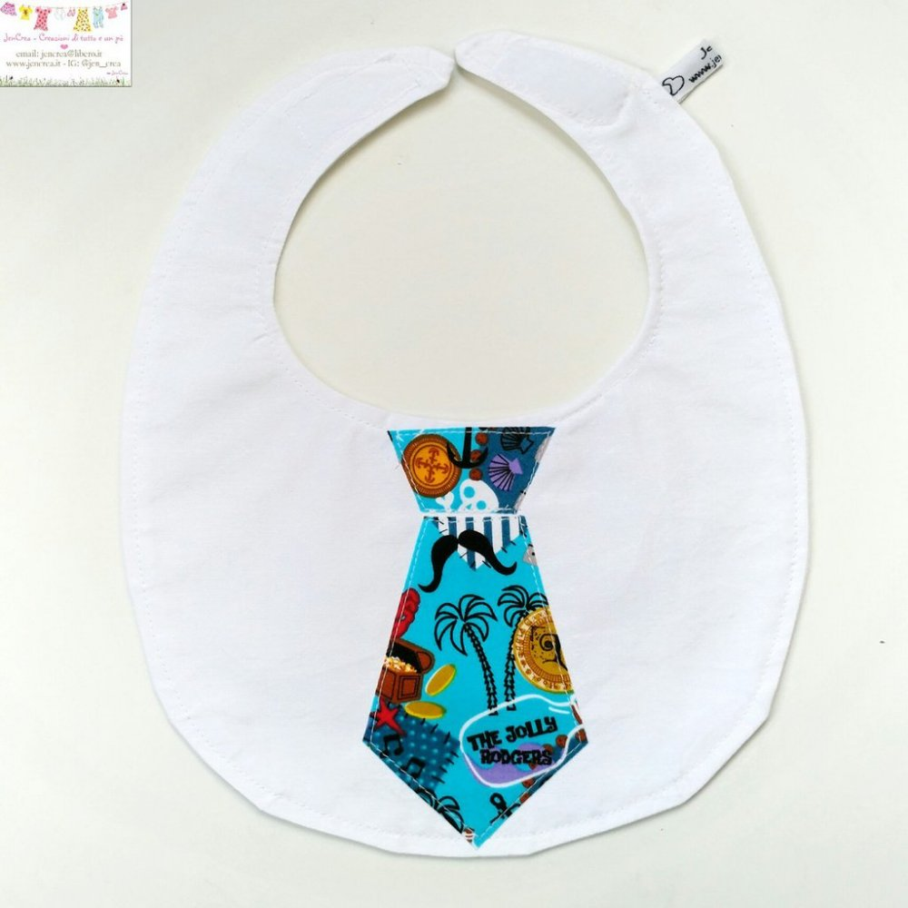 1 Bavaglino elegante bambino cravatta stelline