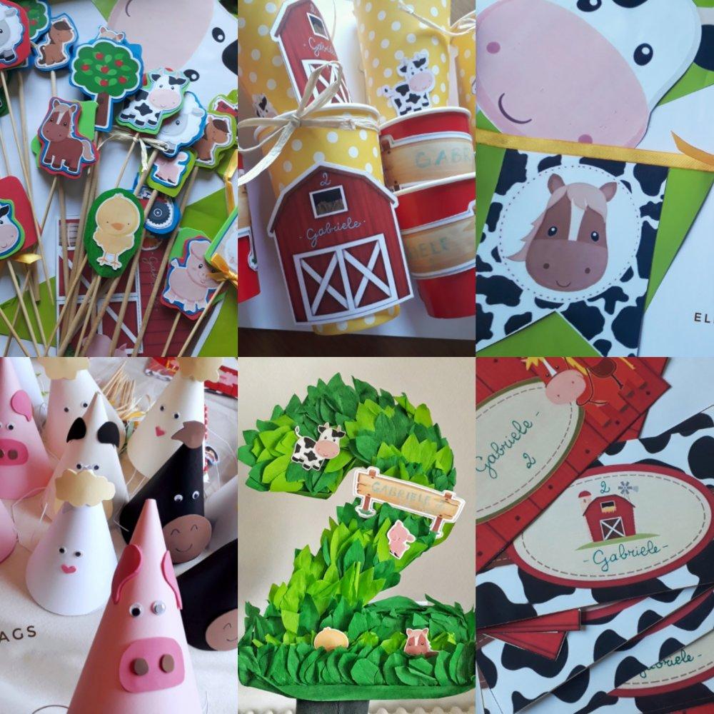 Party Kit Compleanno a  tema fattoria degli animali