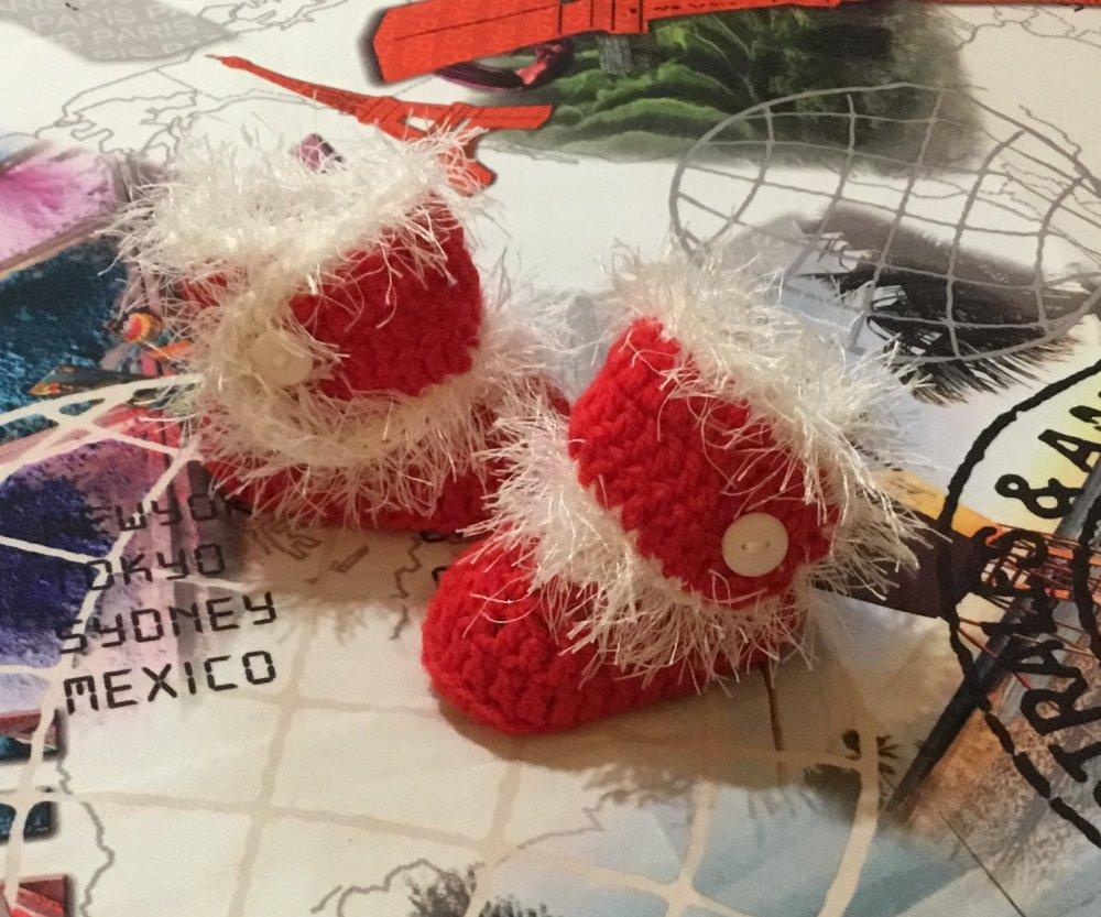 Scarpette uncinetto  crochet lana Natale