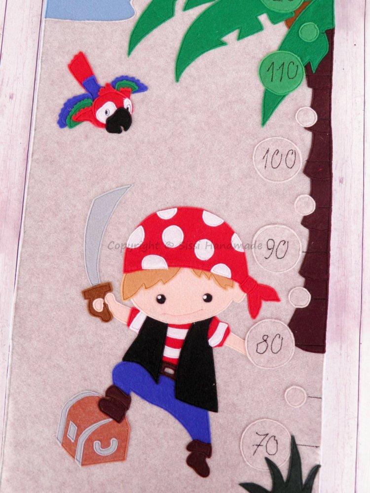 Metro della crescita per bambini, da parete tema PIRATA