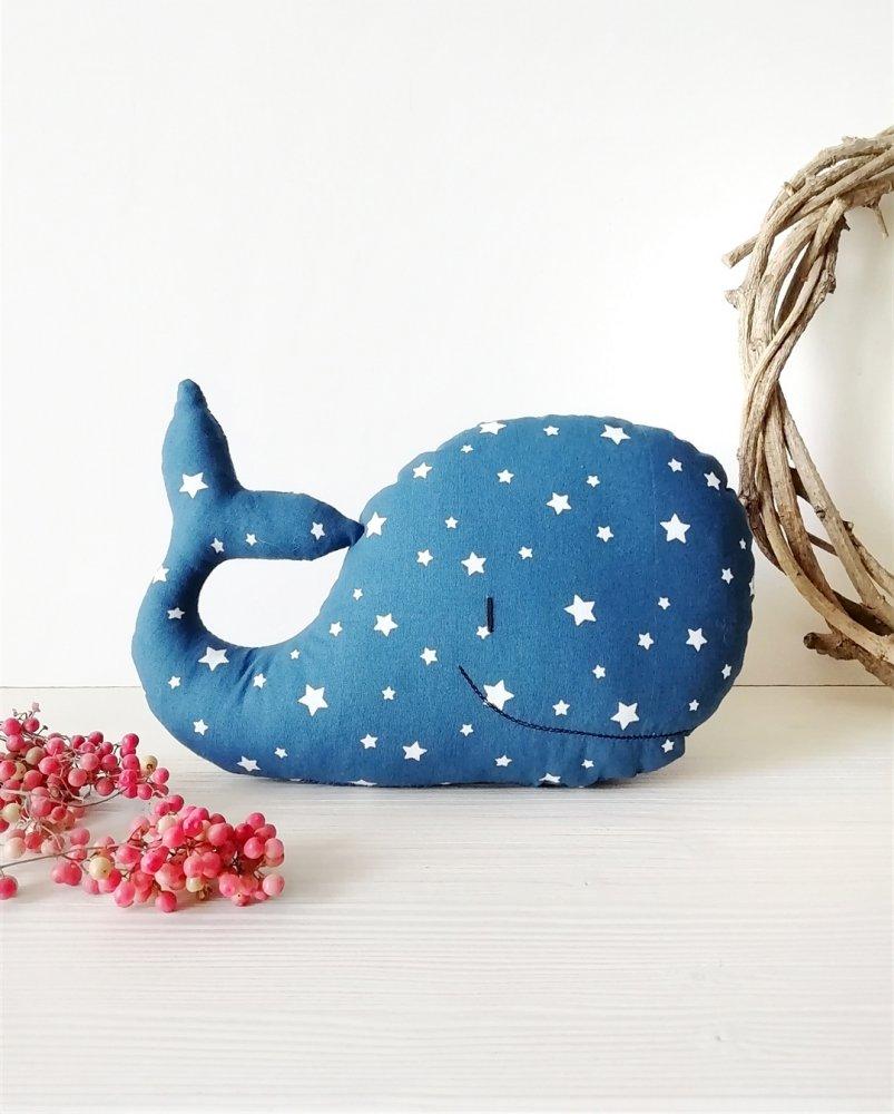 PREORDINE - Balena in tessuto, pupazzo da compagnia (piccola)