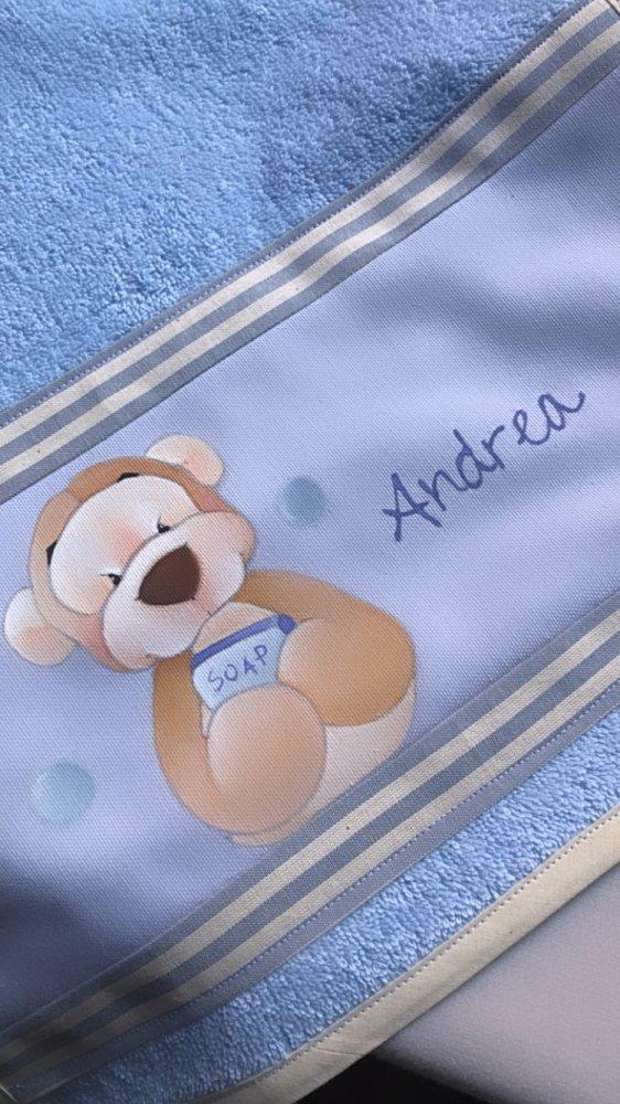 asciugamano spugna bambino/a