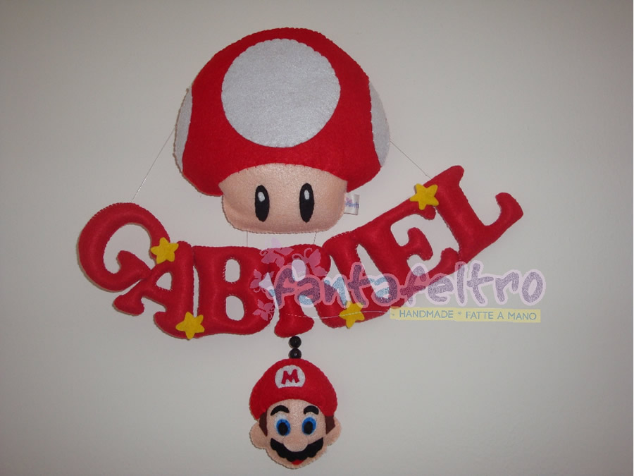 Banner fuoriporta per cameretta Super Mario