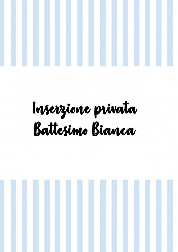 INSERZIONE PRIVATA BATTESIMO BIANCA