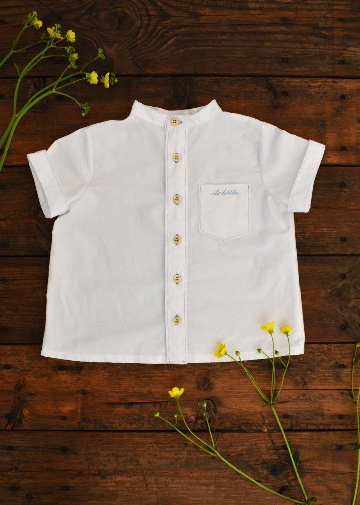 Camicia bianca con colletto coreana