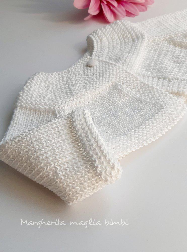 Coprispalle cotone bianco neonata/bambina - scaldacuore, golfino, bolero - Battesimo  - fatto a mano