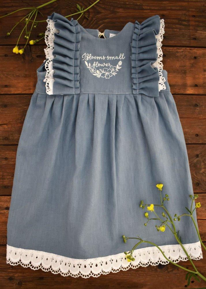 abito in lino blu