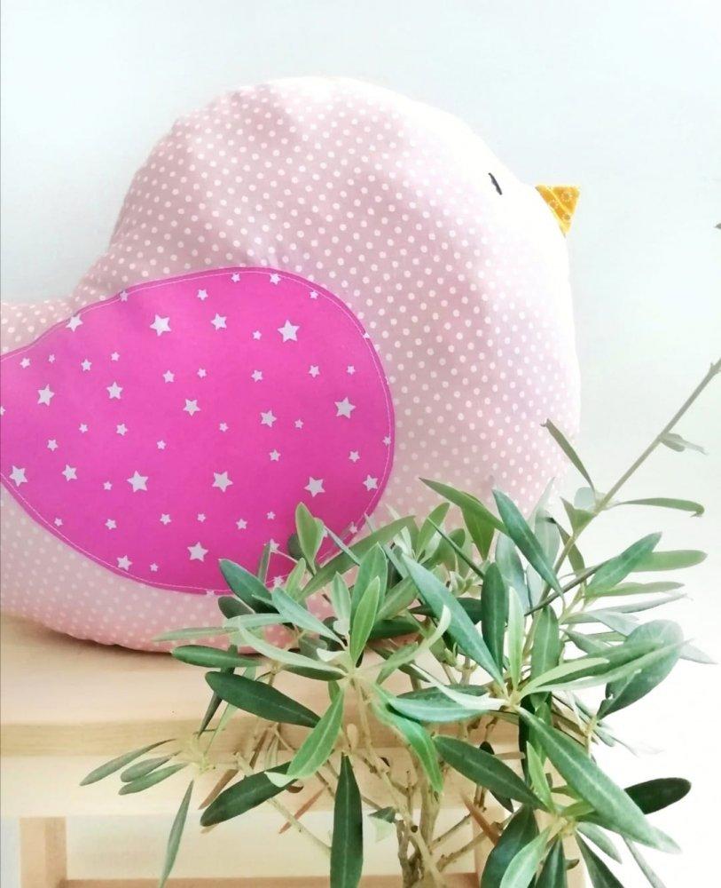 PREORDINE - Pupazzo gioco nanna a forma di uccellino, regalo nascita, cuscino arredo