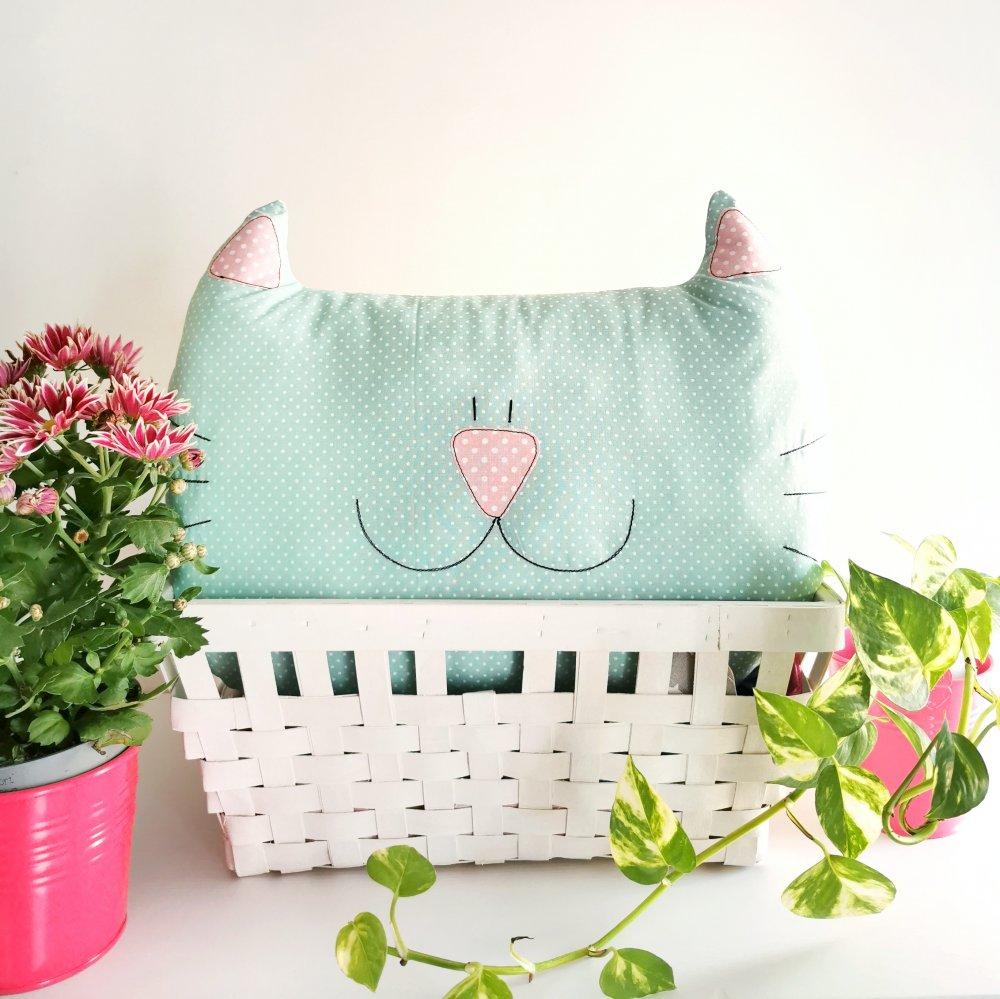 PREORDINE - Cuscino gatto, pupazzo da compagnia, decorazione cameretta