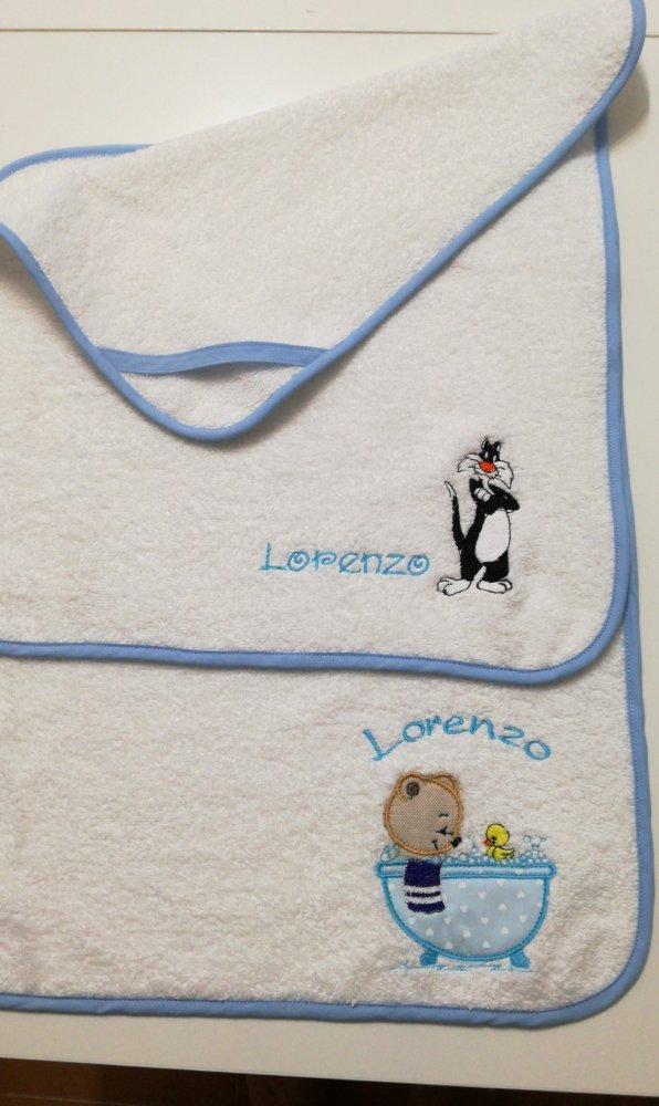 Asciugamano asilo o  set nascita