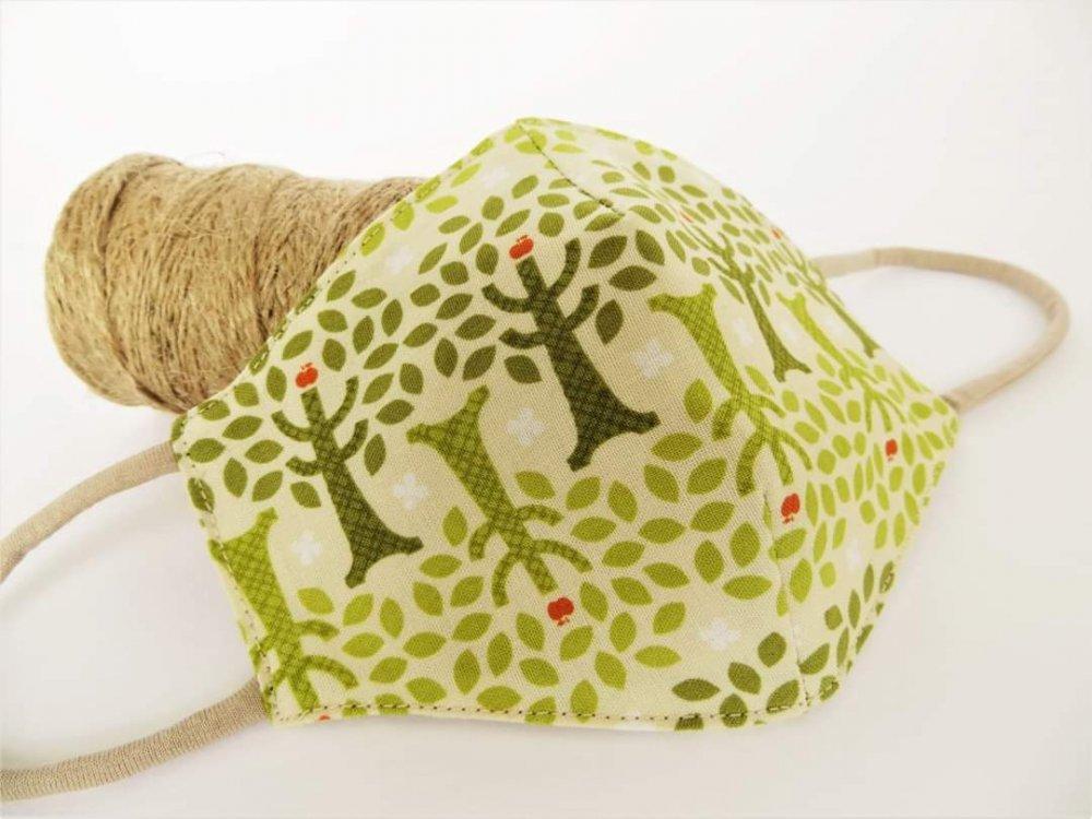 Mascherine per bambini in cotone  fantasia - L'albero del melo -