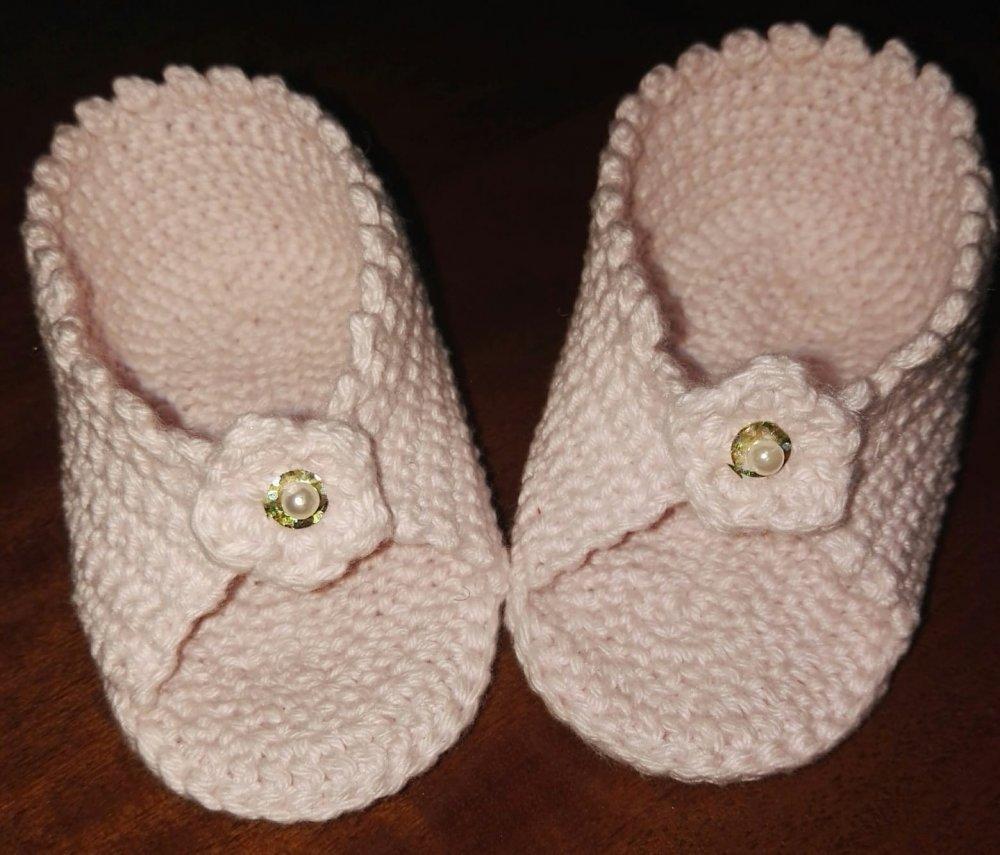 Scarpine scarpette estive ad uncinetto in cotone 100% per neonata 0 - 6 mesi