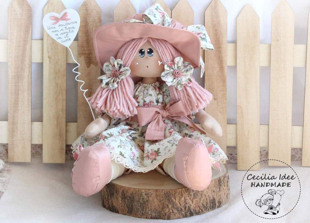 Bambola capelli rosa