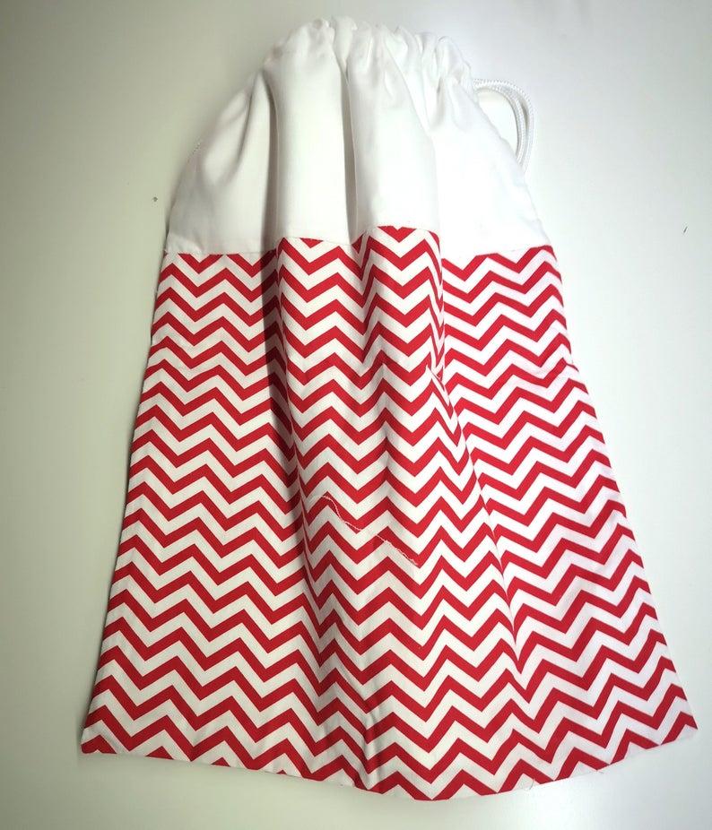Sacca  in bianco e rosso