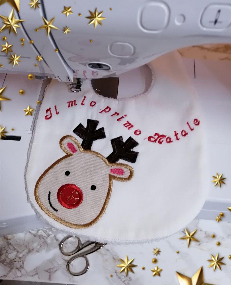 Bavaglino  Natale con renna