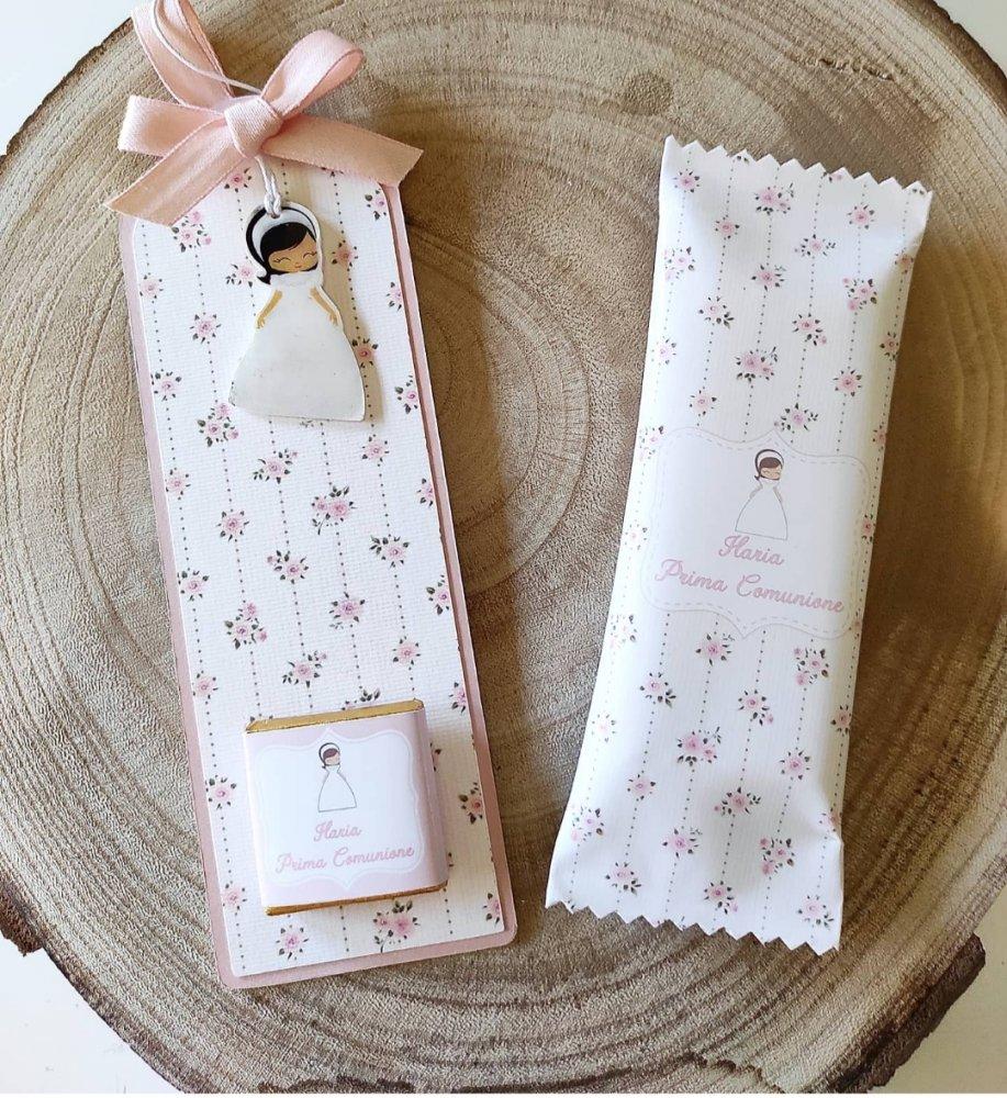 Mini kit segna libro e tavoletta di cioccolato personalizzata