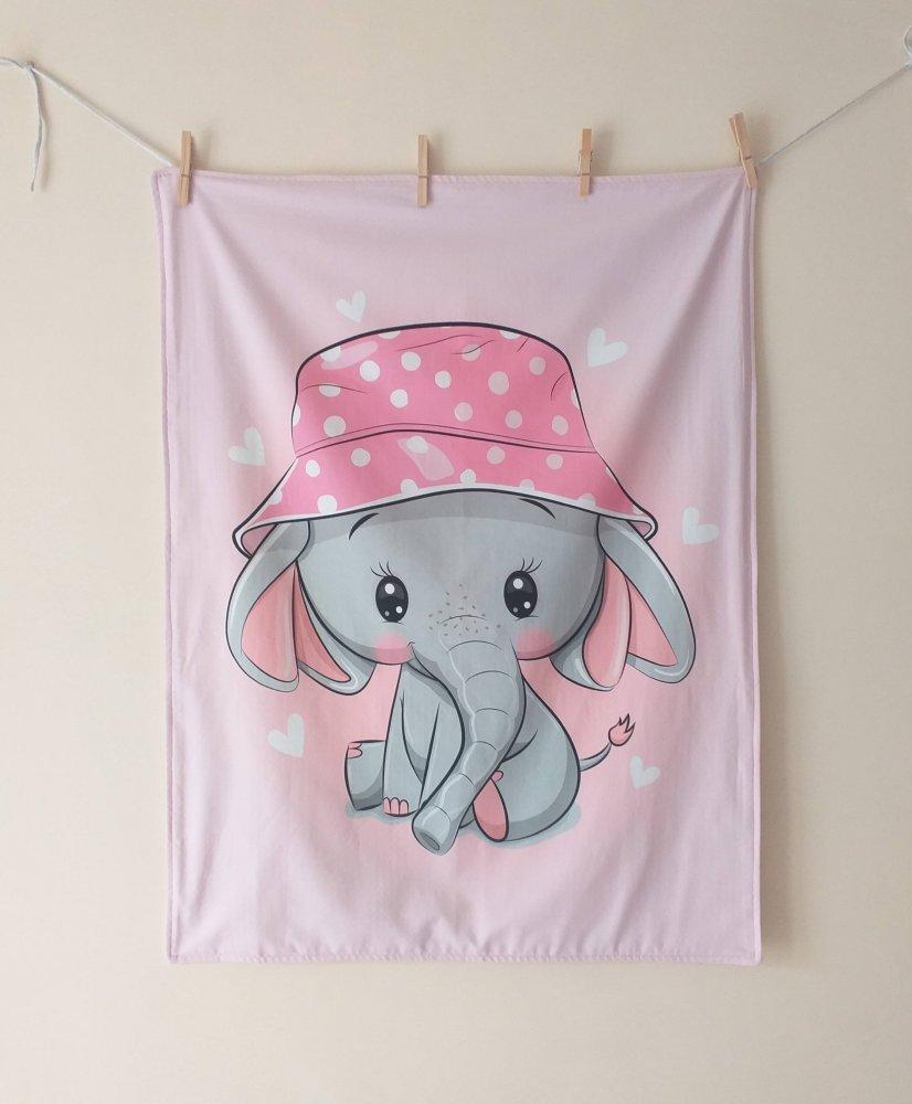 Copertina  elefantino in pile e cotone