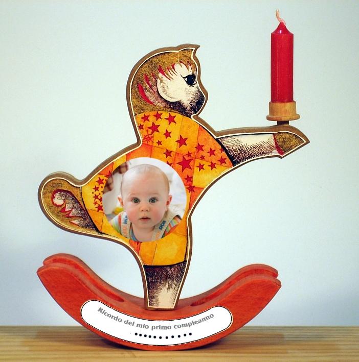 Cavallino con candelina primo compleanno