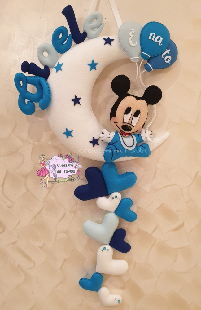 Fiocco nascita topolino