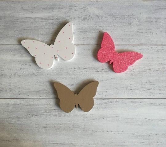 Decorazioni cameretta, farfalle decorative, farfalle legno