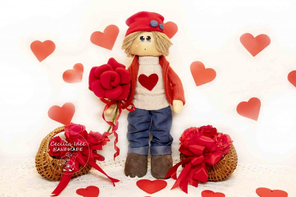 Romeo con rosa