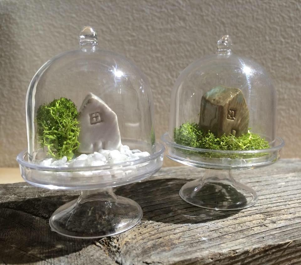 Casa con giardino  sotto vetro