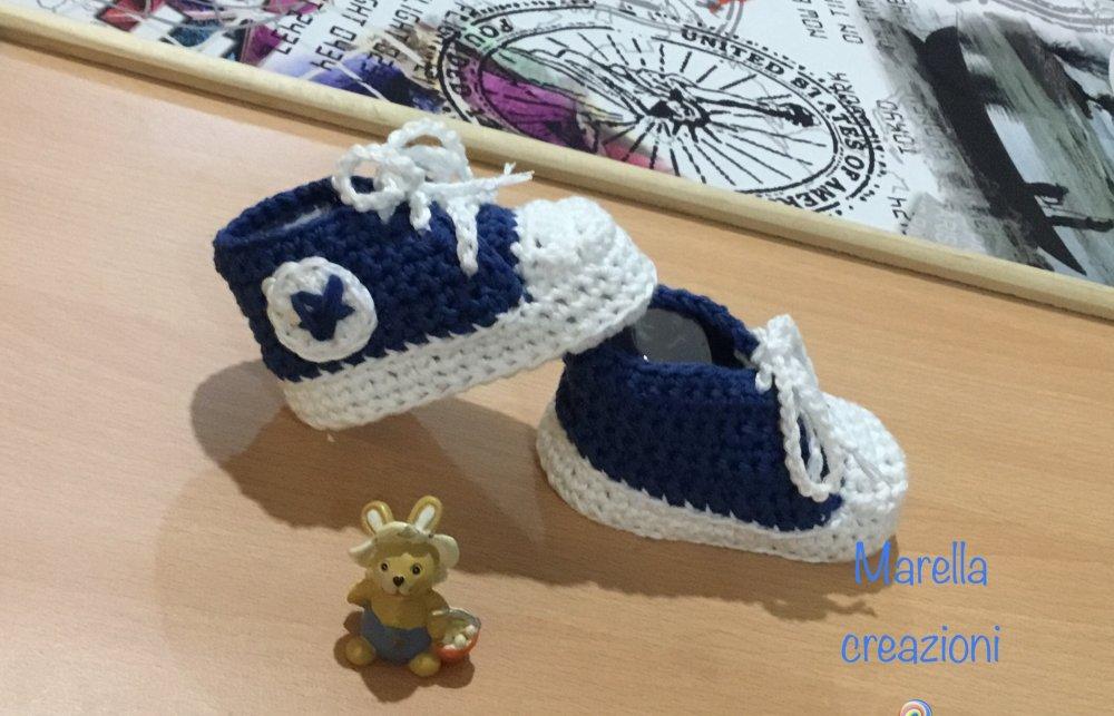 Scarpette sneakers baby cotone
