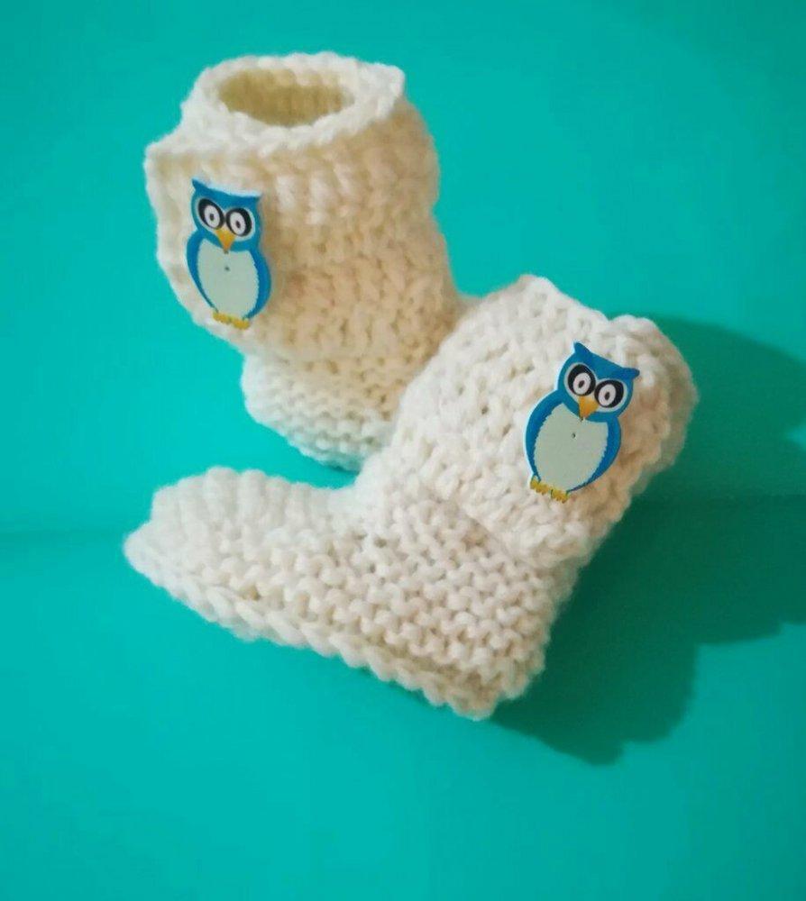 Scarpette stivaletti stile Ugg in lana