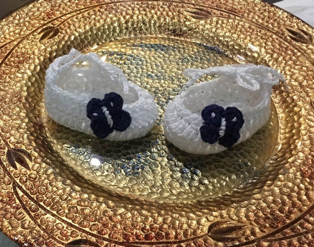Scarpette  in cotone bianco