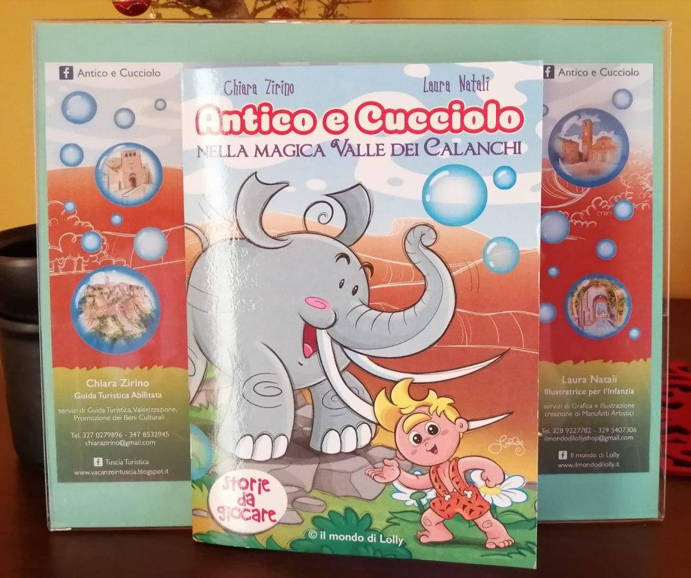 Antico e Cucciolo nella Magica Valle dei Calanchi  - libro illustrato - autrice Chiara Zirino - illustrazioni Laura Natali