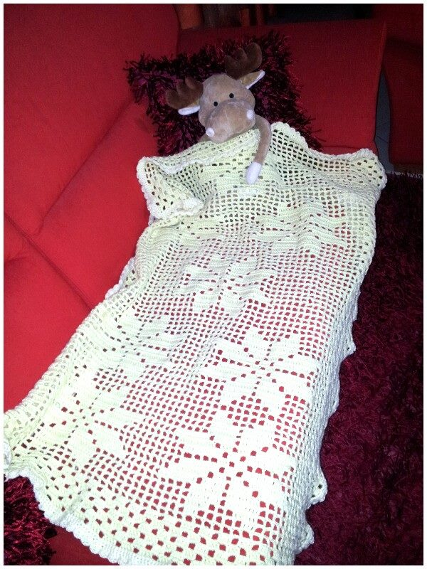 copertina in lana da lettino