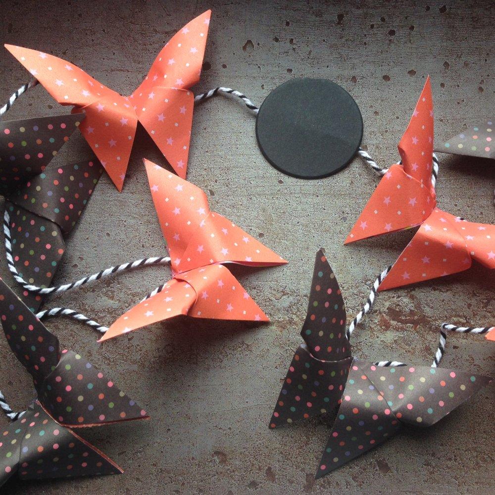 Ghirlanda di farfalle origami