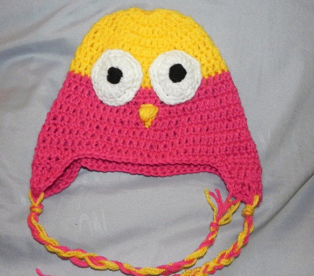 Cappellino gufetto in lana