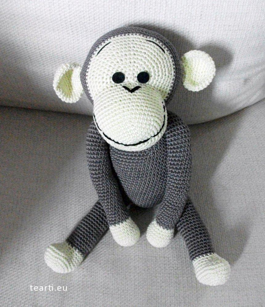 Ernesto, la scimmietta amigurumi. Idea regalo per bambini.