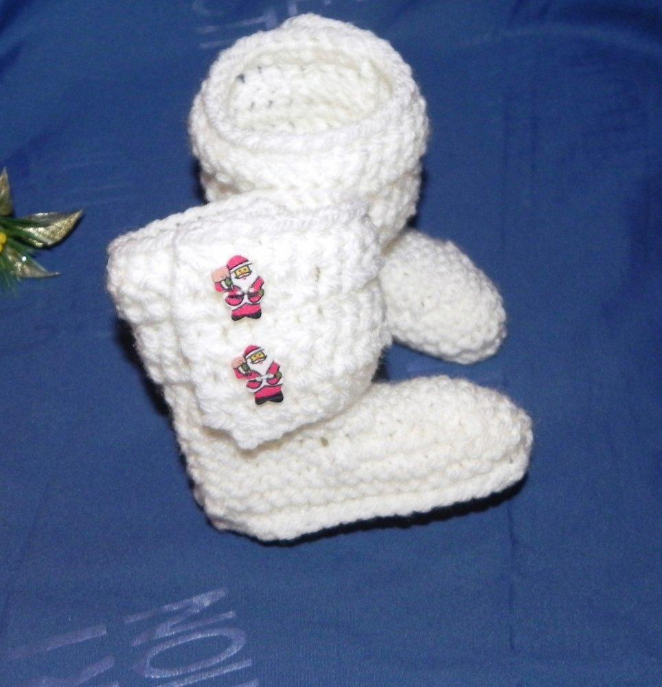 Scarpette-stivaletti bebè Babbo Natale stile UGG   2-6 mesi
