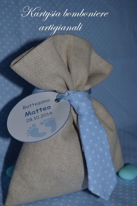 Sacchetto portaconfetti con cravatta