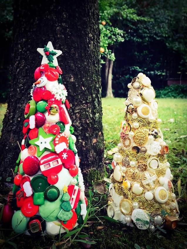 ALBERELLO DI BOTTONI - Decorazione per Natale