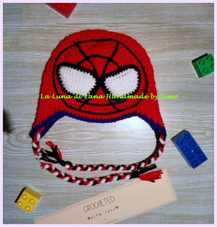 Cappello uncinetto Spiderman Uomo Ragno per bambino bcf8f1978c40