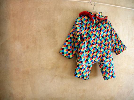 Abito da Arlecchino per neonati e bambini piccoli, facile da lavare, perfetto per giocare a travestirsi