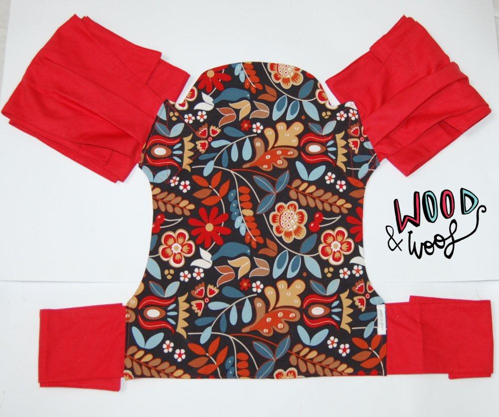 Mei Tai Reversibile fiori e Rosso