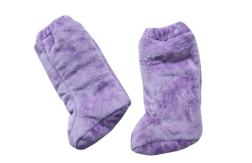 Stivaletti Double Face Viola in tessuto minky per i bambini che non camminano ancora