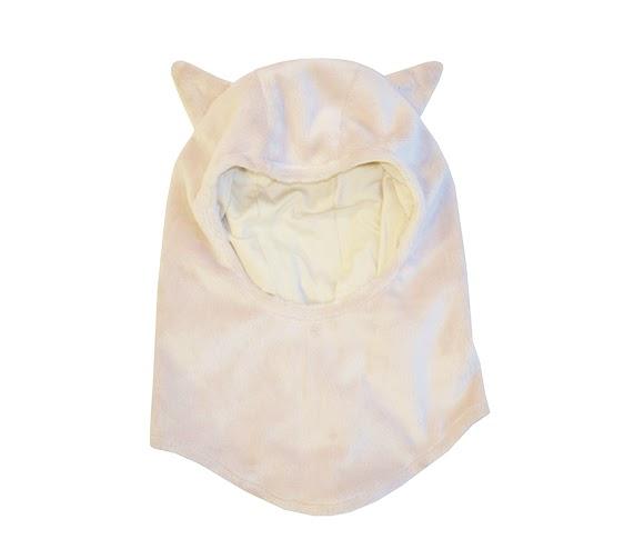Passamontagna Beige con orecchie da animaletto - berrettino e sciarpa in uno.