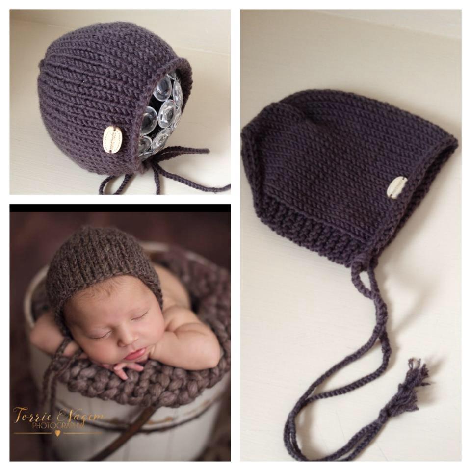 Cuffia neonati in lana merino