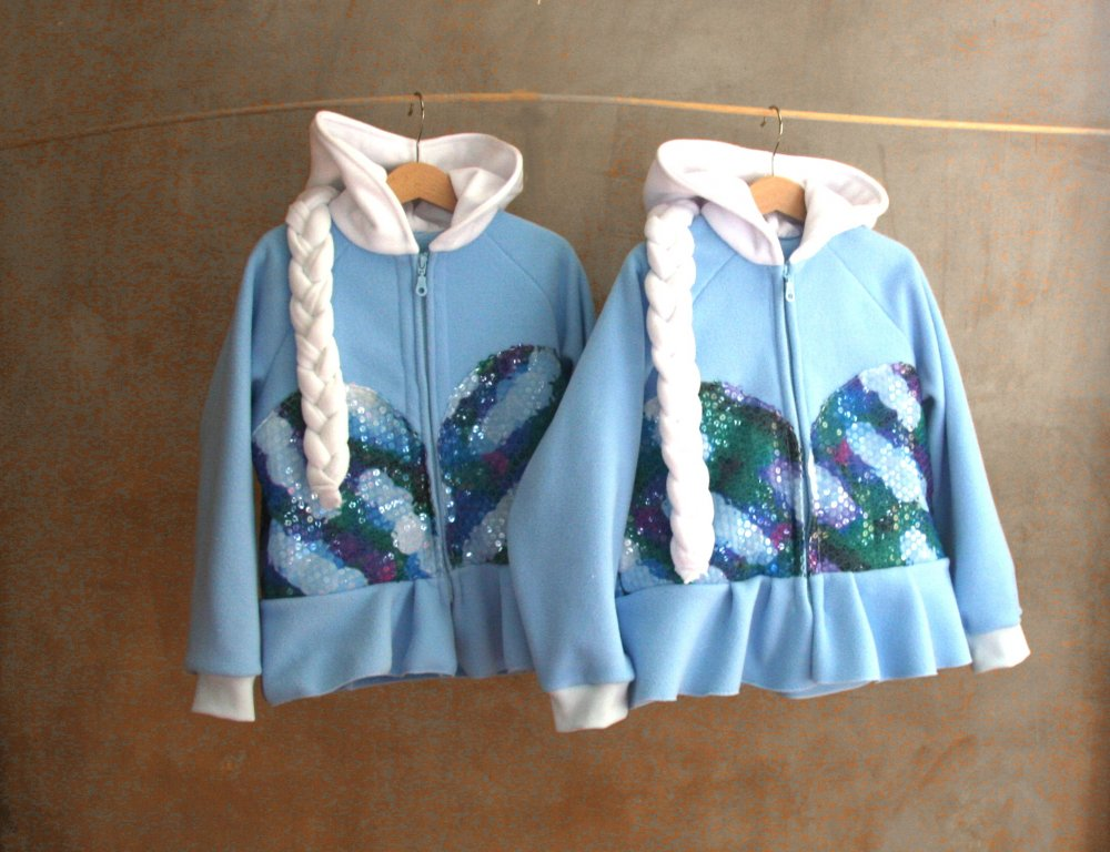 Disney Frozen inspired Princess Queen Elsa Fleece hoodie shirt (Child sizes)  Felpa per bambine